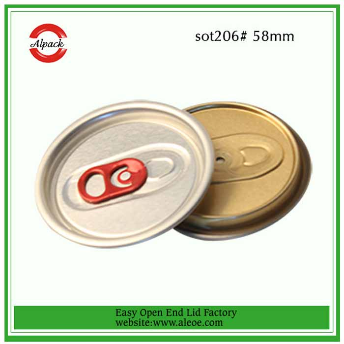 206#58mm aluminium fruit juice can easy open lid company
