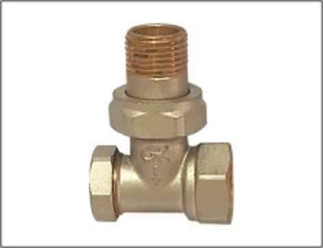 Brass Radiator Valve Without Handwheel