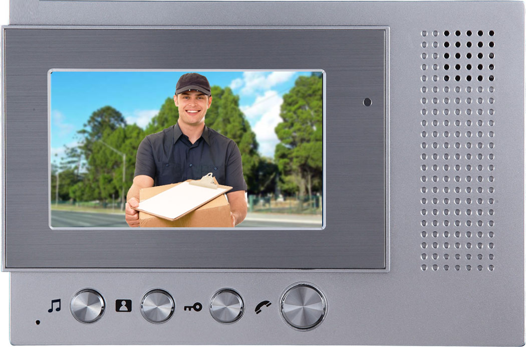 Video door phone intercom system with 4.3 inch lcd screen