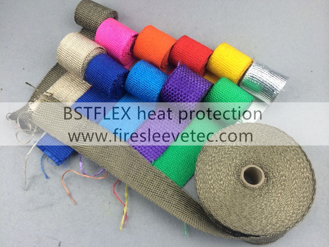 titanium Black Exhaust Heat Tape Wrap