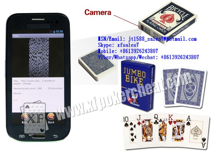 XF Bicycle Paper Cards' Case Camera To Scan Side-marking Playing Cards For Poker Analyzer / Poker Pack Camera / Paper Box Camera