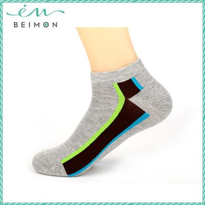 Pure Cotton Antibacterial Women Plain Knitted Rosso Machine Socks