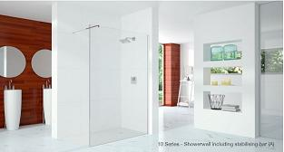 10 Series Showerwall With Stabilising Bar