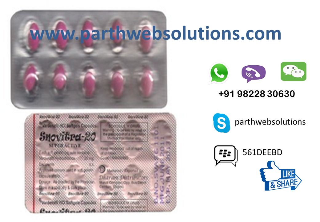 Snovitra Super Active Strong 20mg (Vardenafil HCL Softgel Capsule)