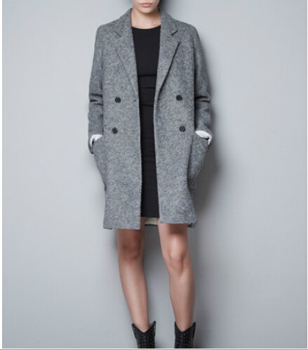 Women's wool coat In the autumn and winter long fur coat
