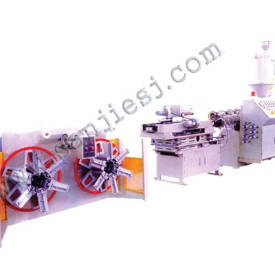 PVC Double Wall Corrugated Pipe Extrusion Line SJ65