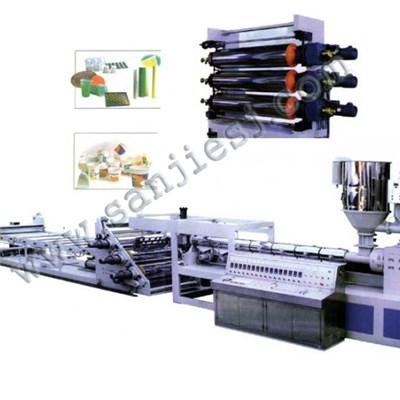 PVC Water Proof Roll Sheet Extrusion Line SJSZ92