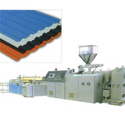 PVC Glazed Roofing Tile Extrusion Line SJSZ80