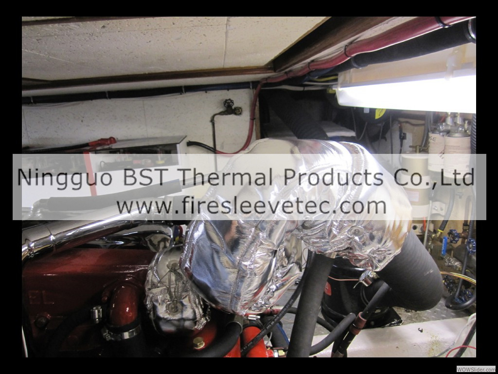 Engine Exhaust Pipe Insulation Blanket Jacket Cover Heat