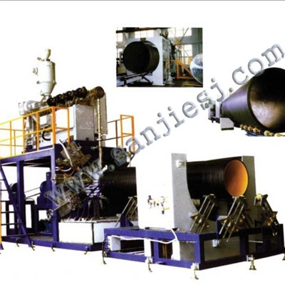 HDPE Hollow Wall Winding Pipe Extrusion Line SJ90