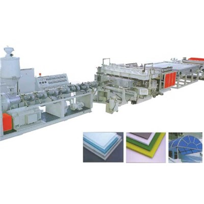 PC Hollow Sheet Extrusion Line SJ120