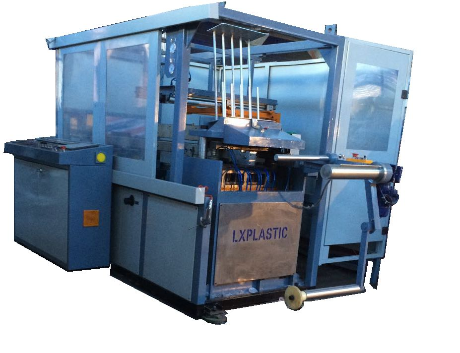 LX360 PP lid and tray thermformer