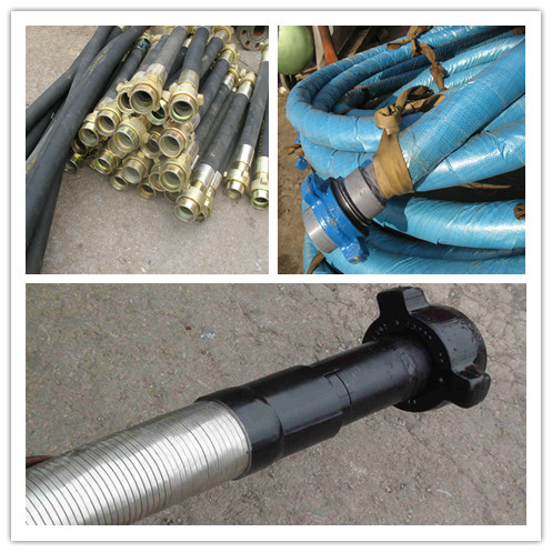 Steel wire spiraled drilling rubber hose, rock drill rubber hoses,