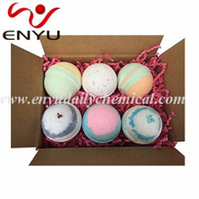 Bath Bombs Gift Set - 6 Extra Large Size, 4.5 Oz Per Scent