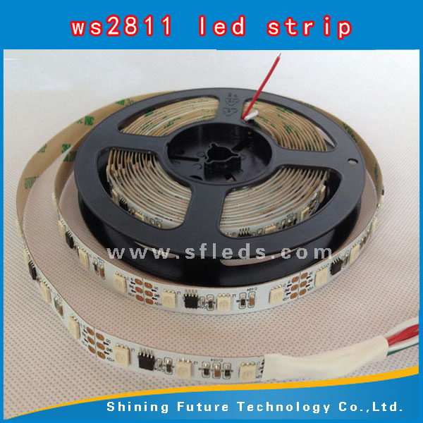WS2811 WS2812 LED dream color strip,WS2812B Addressable Color LED Light Strip 60 Pixel 5050 RGB SMD WS2811 IC