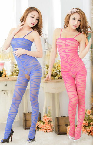 Geometric Pattern Silk Body Stocking 06121