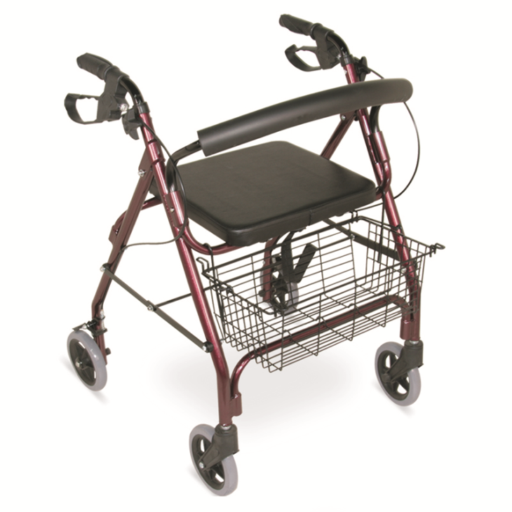 "Lightweight Rollator Walker With 6"" Casters"