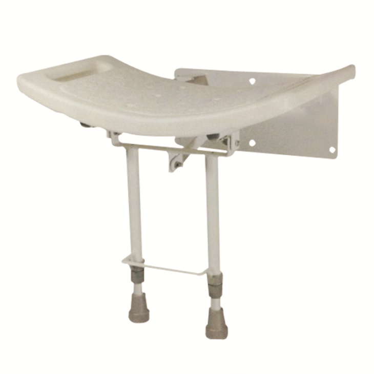 Wall-Mount Folding Shower Seat With Ergonomically Curved Design
