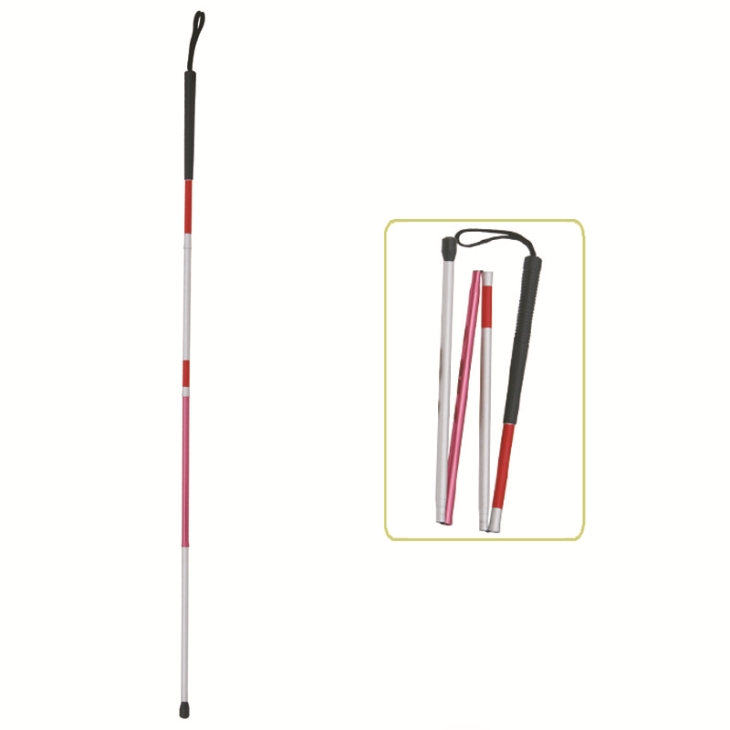 Lightweight Folding Blind Cane With Wrist Strap