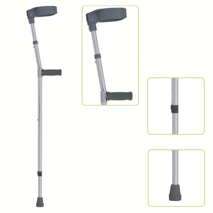 Height Adjustable Lightweight Walking Forearm Crutch With Comfortable Handgrip