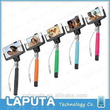 wired remote selfie stick D09 Wired Selfie Stick