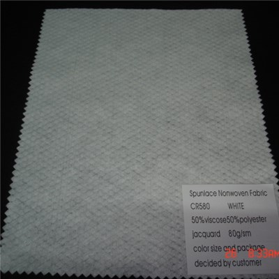 CR580 Embossed Spunlace Nonwoven Fabric