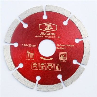 Diamond Segment Saw Blade 110 X20 Mm