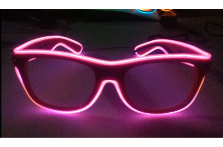 EL Wire Diffraction Glasses