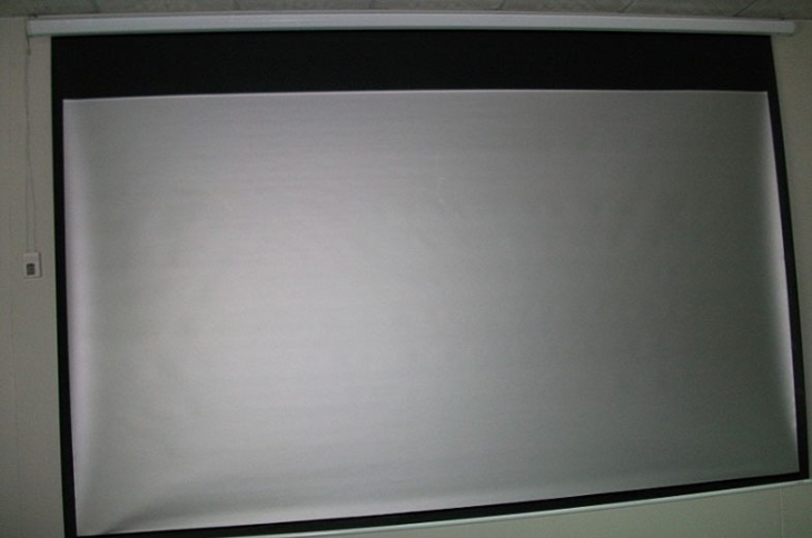 Motorized Silver Screen For 3D