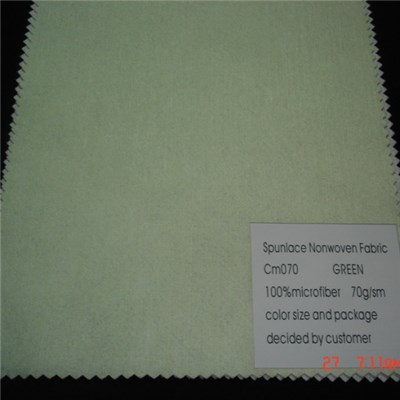 CM070 Green Microfiber Nonwoven Fabric