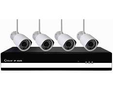 outdoor cctv camera kits 4CH Network Video Record Kits Black Colo
