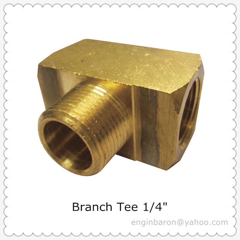 Brass Branch Tee,1/4\