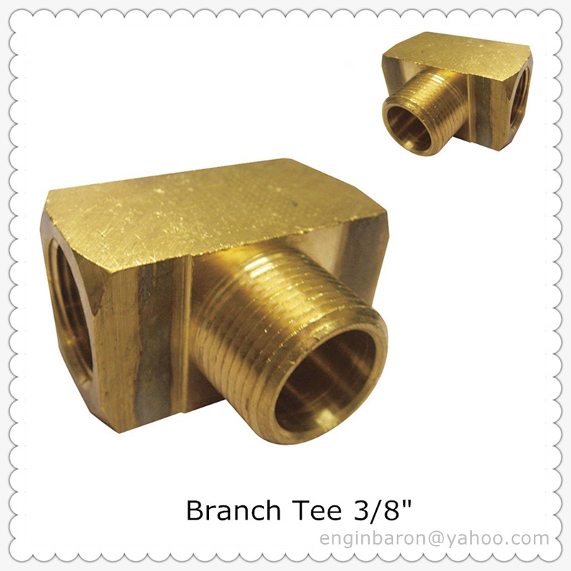 Brass Branch Tee,3/8\