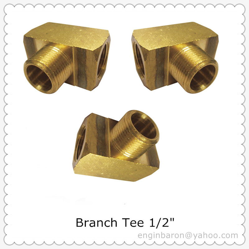 Brass Branch Tee,1/2\