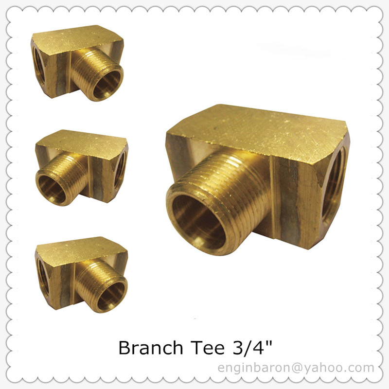 Brass Branch Tee,3/4,FNPT x FNPT x MNPT,1200 PSI,200pcs/lot,59KG