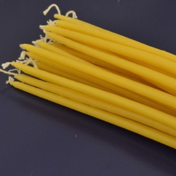 wholesale no toxic no pollution long time burning church use beeswax taper candle
