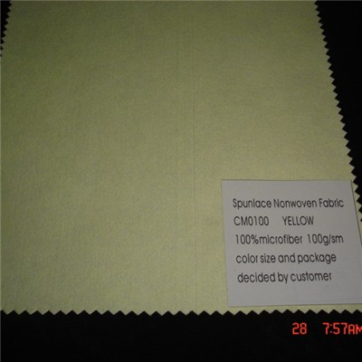 CM0100 Yellow Microfiber Nonwoven Fabric