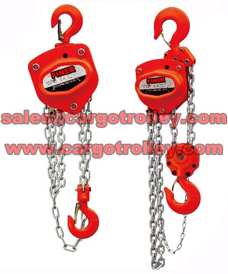 Chain pulley blocks price list and manual instruction