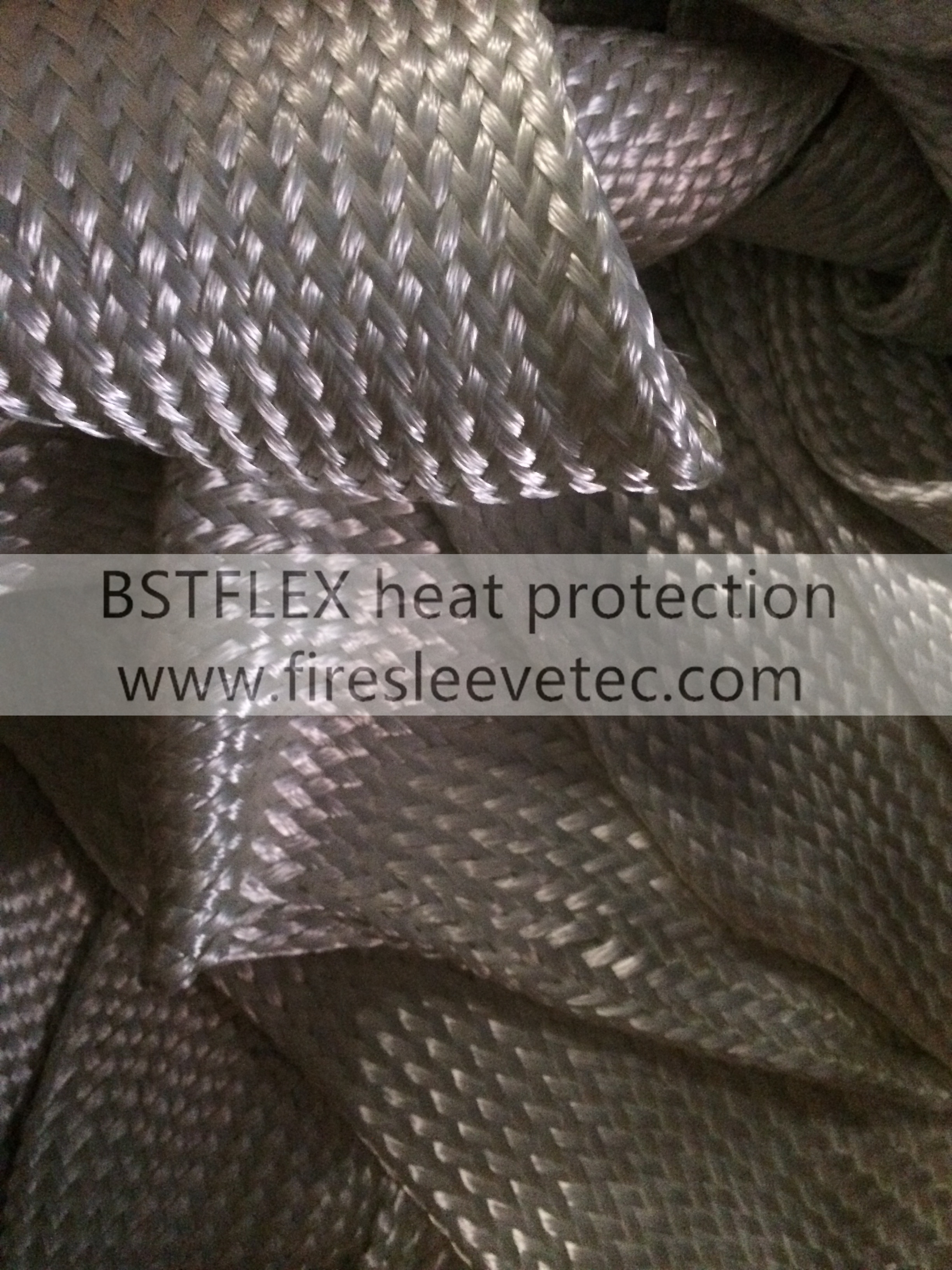 Fiberglass Braided High Temperature Heat Resistant Sleeve