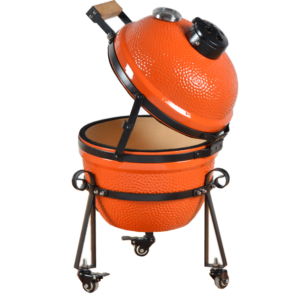 Cast Iron Kamado Charcoal Outdoor Wood Fired Grill