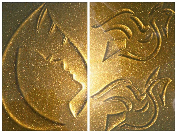 3D Effect Coated Aluminum Coil