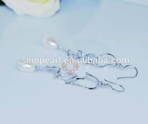 diamond and pearl earrings Diamond Pearl Earring