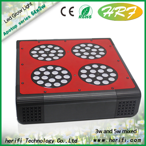 Herifi 2015 Latest indoor plant Full spectrum Apotop Series AP004 64x3w LED Grow Light for indoor medical plant