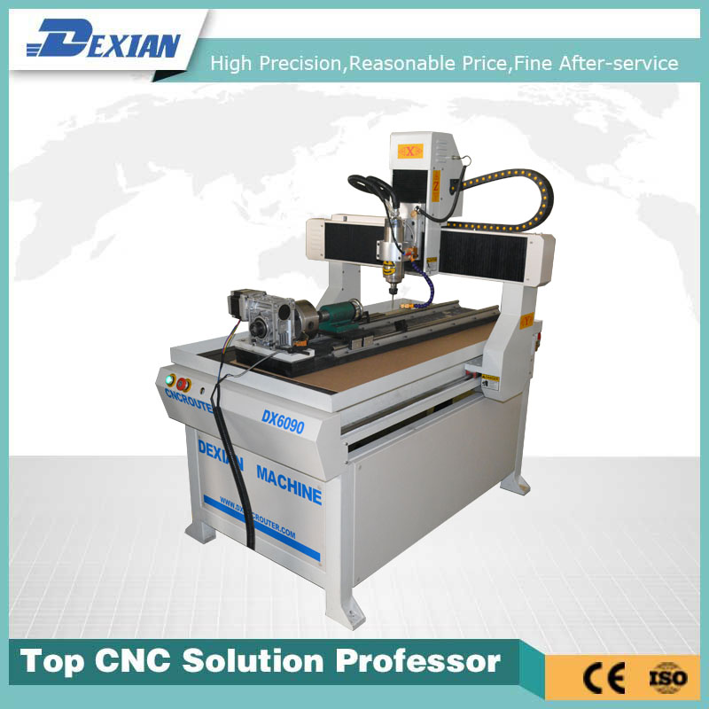 600x900mm woking area hot sale cheap cnc router 0609 with 4th rotary device