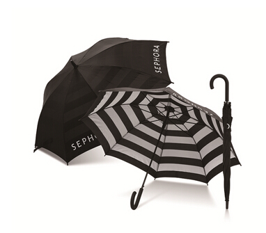 black and white umbrell Black And White Straight Umbrella