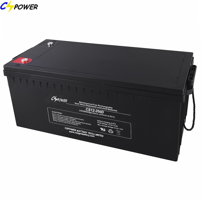 12V200ah AGM Manufacturer Deep Cycle Sealed Lead Acid Battery/UPS Battery