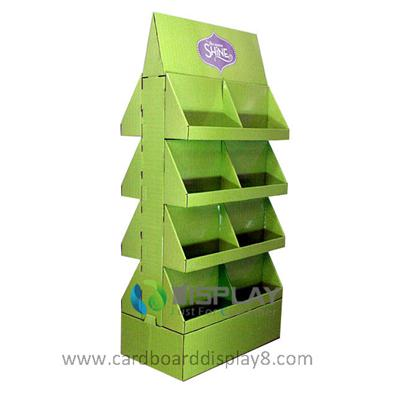Double Sided Cardboard Display Stands with 4 Tiers, Custom Cardboard Display Stands
