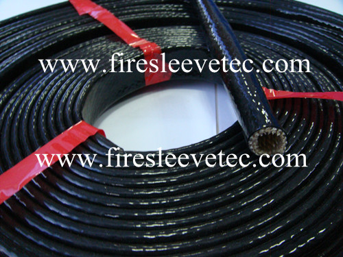 silicone rubber fiberglass braided fire protection sleeve