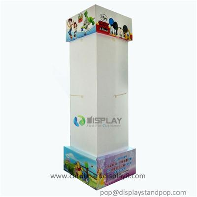 Customized 4 Surface Cardboard Toy Displays With Pegs