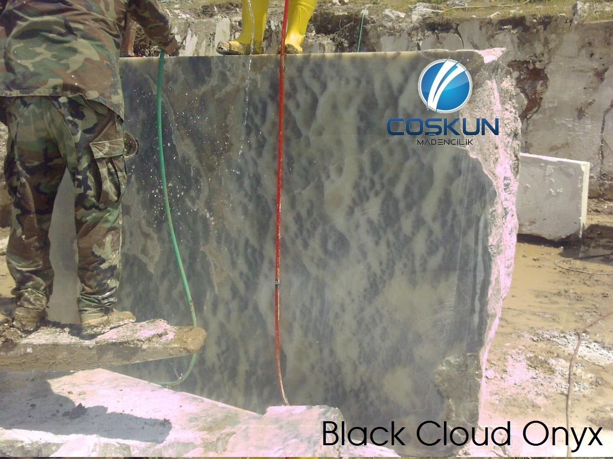 Turkey Black Cloud Onyx Blocks & Slabs